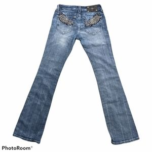 Miss me jeans wings size 27